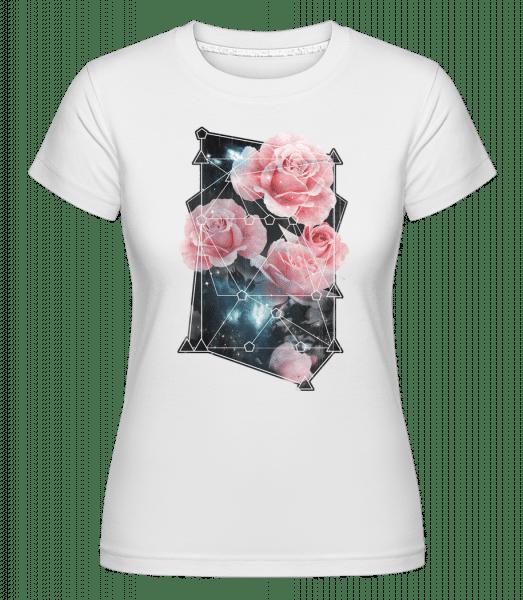 Geometry Roses -  Shirtinator Women's T-Shirt - White - Vorn