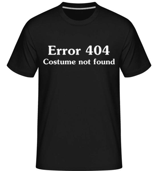 Error 404 Costume Not Found -  Shirtinator Men's T-Shirt - Black - Front