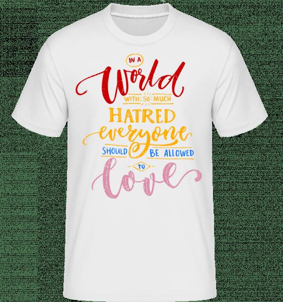 Allow Lovers - Shirtinator Männer T-Shirt - Weiß - Vorn