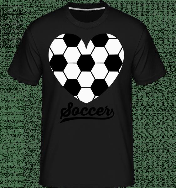 Soccer Logo Heart - Shirtinator Männer T-Shirt - Schwarz - Vorn
