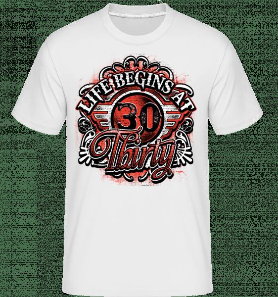 Life Begins At 30 -  Shirtinator Men's T-Shirt - White - Vorn