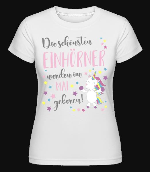 Einhorn Geboren In MAI - Shirtinator Frauen T-Shirt - Weiß - Vorn