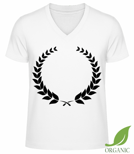 "Laurel Wreath - ""James"" Organic V-Neck T-Shirt - White - Vorn"