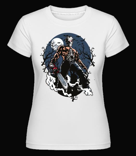 Evil Killer -  Shirtinator Women's T-Shirt - White - Front