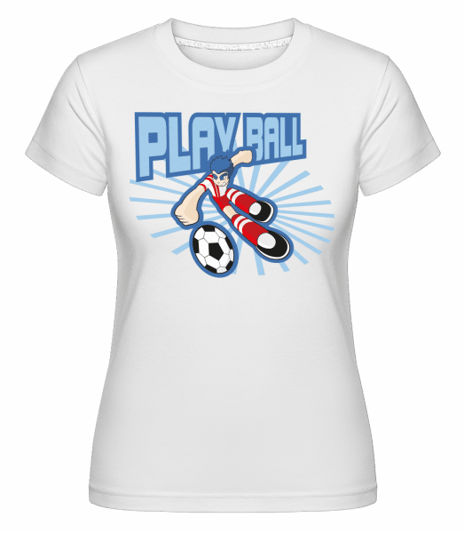Play Ball - Shirtinator Frauen T-Shirt - Weiß - Vorn