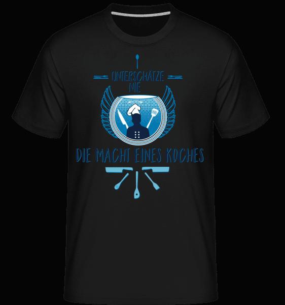 Die Macht Eines Koches - Shirtinator Männer T-Shirt - Schwarz - Vorn
