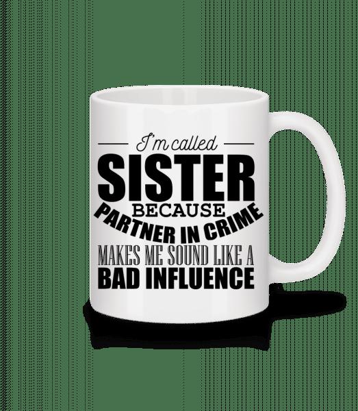 Sister But Partner In Crime - Mug - White - Vorn