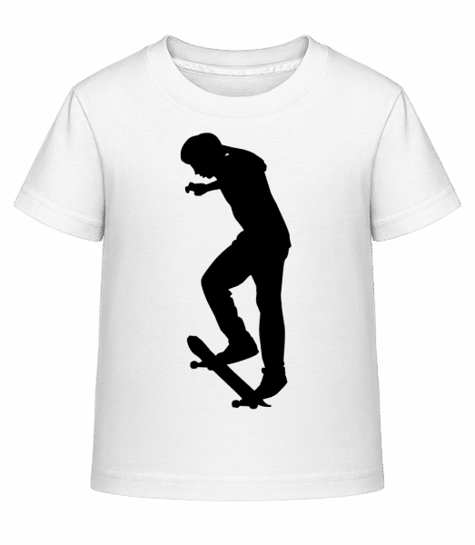 Skateboard Ollie - Kid's Shirtinator T-Shirt - White - Vorn