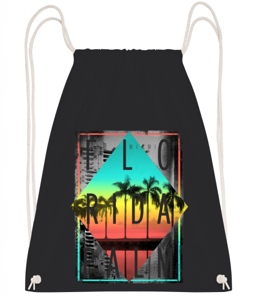 Florida Palm - Drawstring Backpack - Black - Vorn