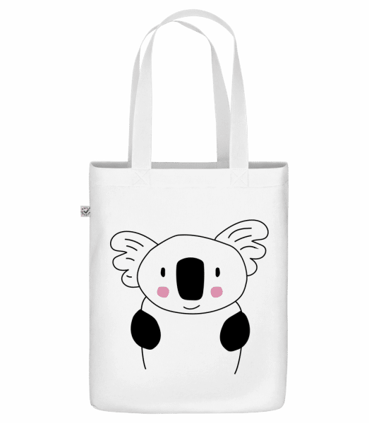 "Cute Koala - Organic ""Earth Positive"" tote bag - White - Vorn"