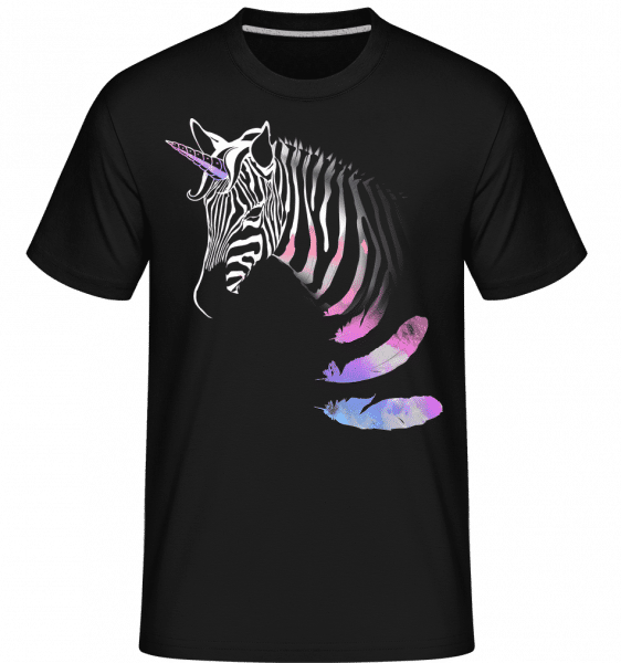 Unicorn Zebra -  Shirtinator Men's T-Shirt - Black - Vorn