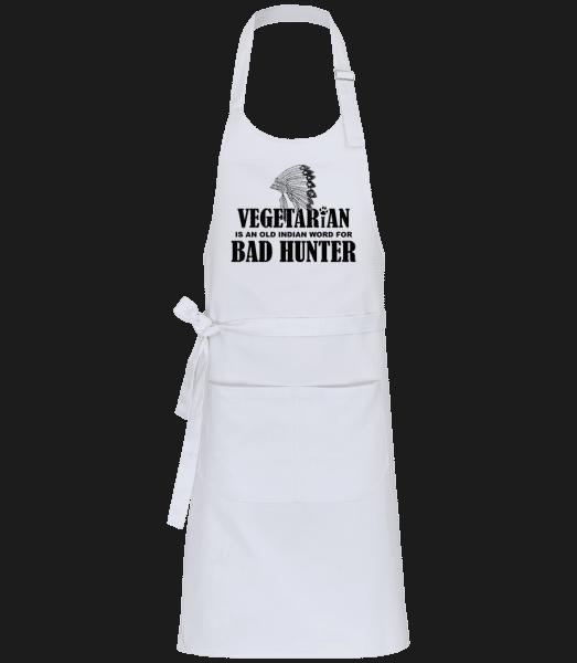 Vegetarian Bad Hunter - Profi Kochschürze - Weiß - Vorn