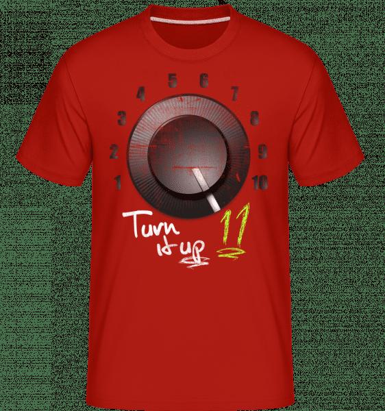 Turn It Up -  Shirtinator Men's T-Shirt - Red - Vorn