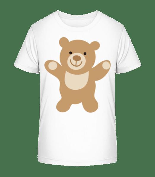 Kids Comic - Bear - Kid's Premium Bio T-Shirt - White - Vorn