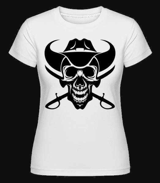 Wild West Skull -  Shirtinator Women's T-Shirt - White - Vorn