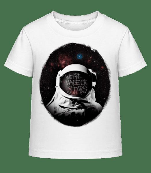 We Are Made Of Stars - Kinder Shirtinator T-Shirt - Weiß - Vorn
