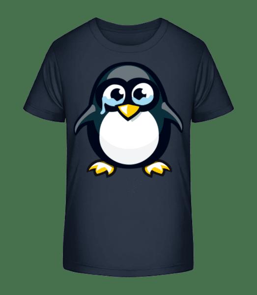 Sad Penguin - Kid's Premium Bio T-Shirt - Navy - Vorn