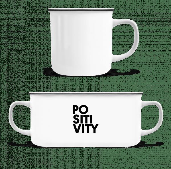 Positivity - Enamel-cup - White - Vorn