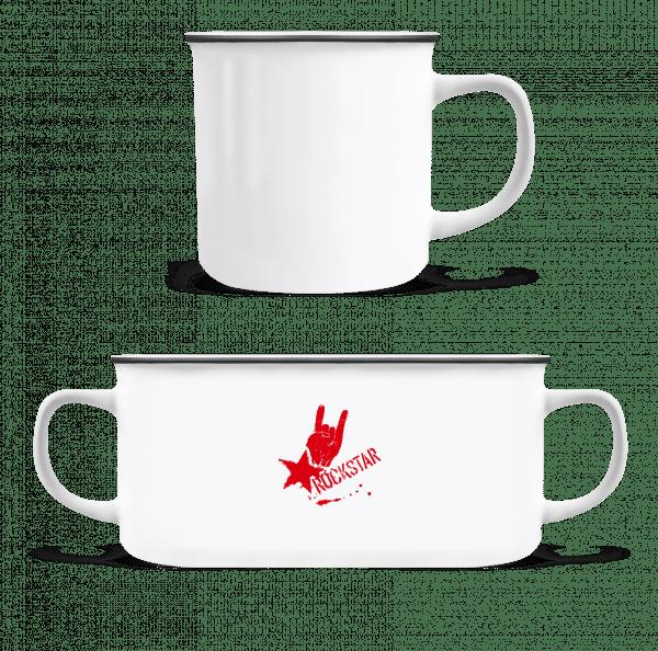 Rockstar Symbol - Enamel-cup - White - Vorn