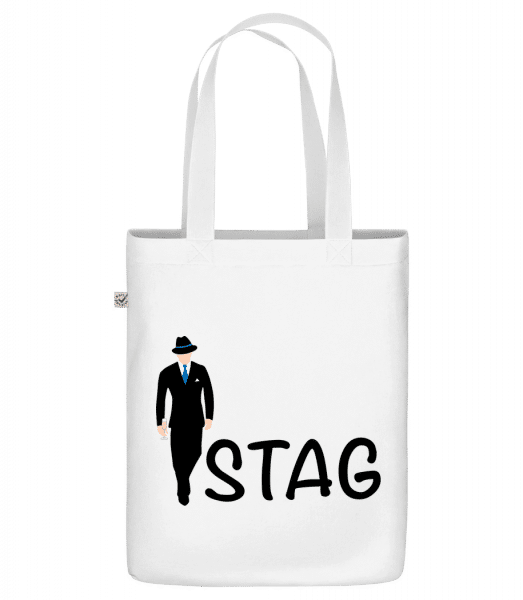 Stag - Sac en toile bio Earth Positive - Blanc - Vorn