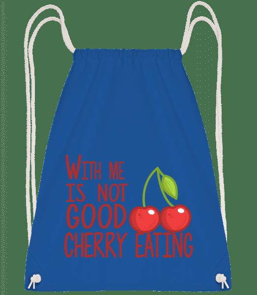 With Me Is Not Good Cherry Eatin - Turnbeutel - Royalblau - Vorn