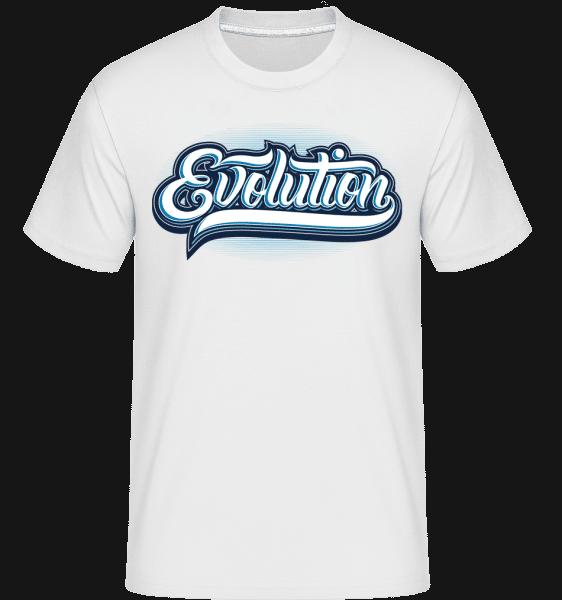 Evolution -  Shirtinator Men's T-Shirt - White - Front