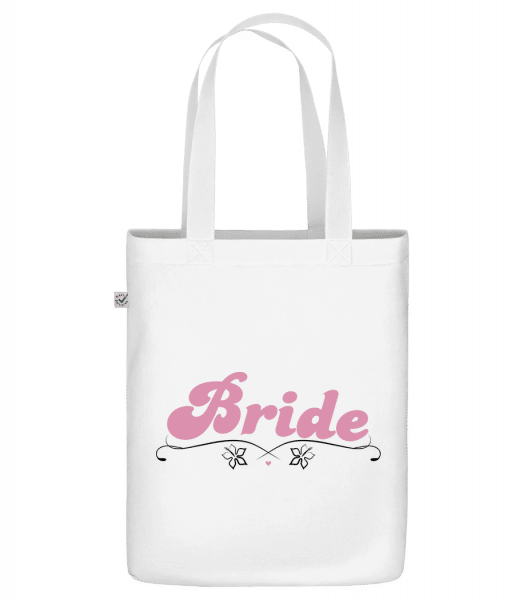 "Bride - Organic ""Earth Positive"" tote bag - White - Front"