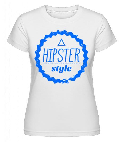 Hipster Style Logo -  Shirtinator Women's T-Shirt - White - Front