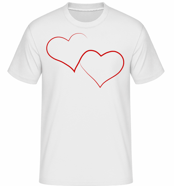 Zwei Herzen - Shirtinator Männer T-Shirt - Weiß - Vorn