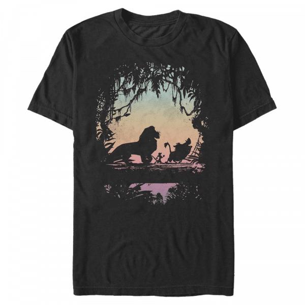 Eastern Trail Group Shot - Disney The Lion King - Men's T-Shirt - Black - Front