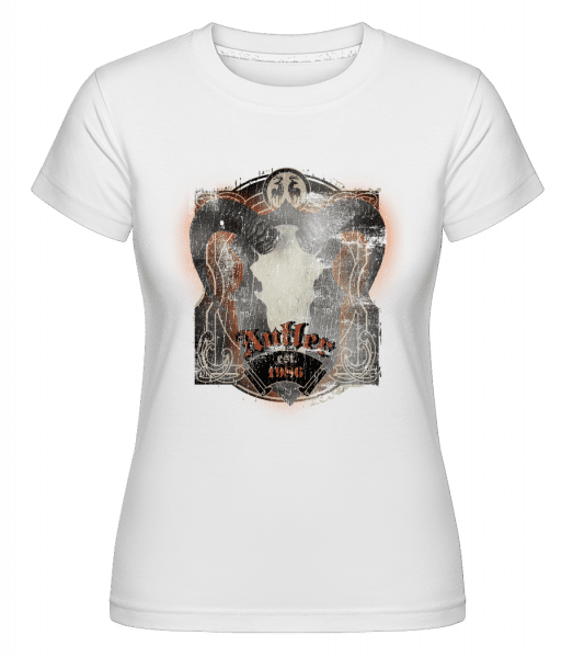 Buffalo Skull Vintage -  Shirtinator Women's T-Shirt - White - Vorn