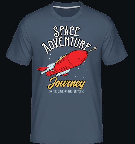 Space Adventure Journey -  Shirtinator Men's T-Shirt - Denim - Vorn
