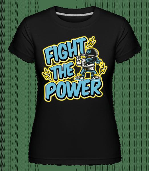 Fighter -  Shirtinator Women's T-Shirt - Black - Front