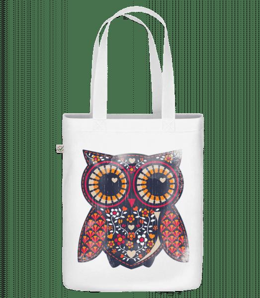 "Art Owl - Organic ""Earth Positive"" tote bag - White - Vorn"
