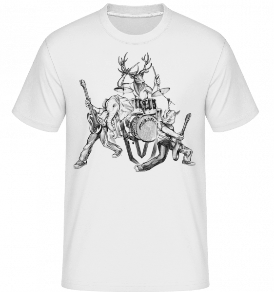 Wild Band -  Shirtinator Men's T-Shirt - White - Vorn