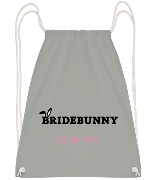 Bridebunny Bunnytime - Drawstring Backpack - Anthracite - Vorn