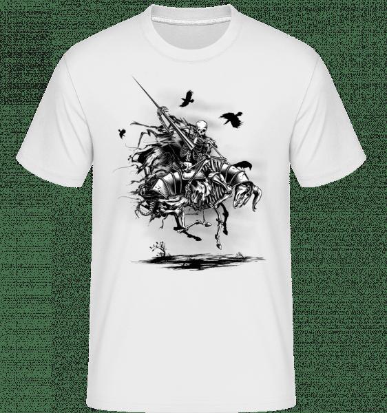 mŕtvy Knight -  Shirtinator tričko pre pánov - Biela - Predné