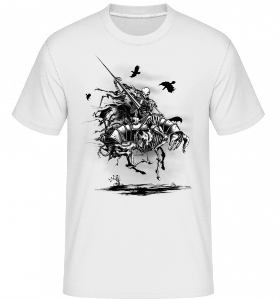 Dead Knight -  Shirtinator Men's T-Shirt - White - Vorn