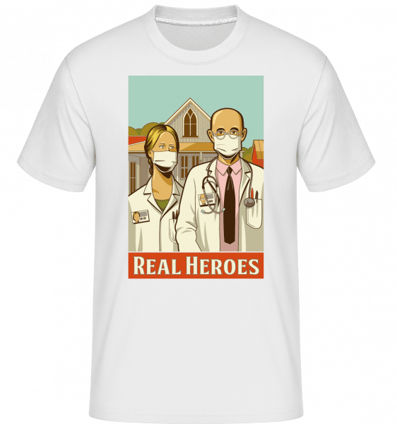 Real Heroes -  Shirtinator Men's T-Shirt - White - Vorn