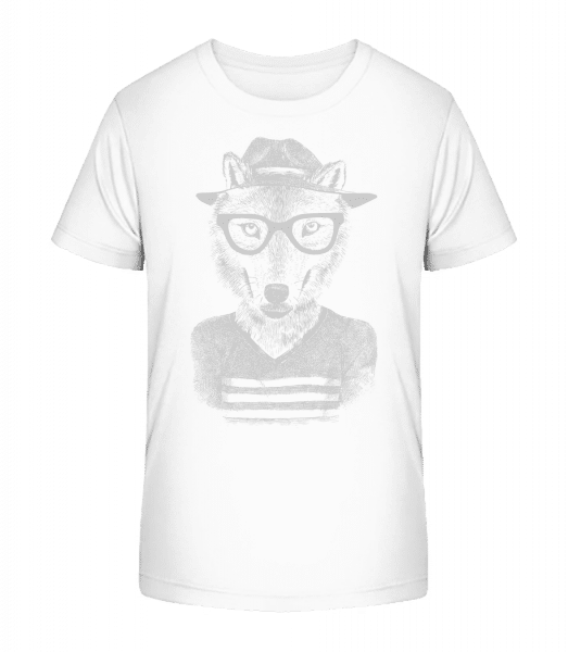 Hipster Fox - Kid's Premium Bio T-Shirt - White - Vorn