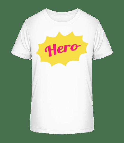 Hero Icon - Kinder Premium Bio T-Shirt - Weiß - Vorn