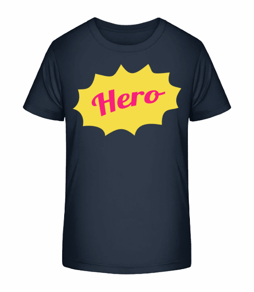 Hero Icon - Kid's Premium Bio T-Shirt - Navy - Front