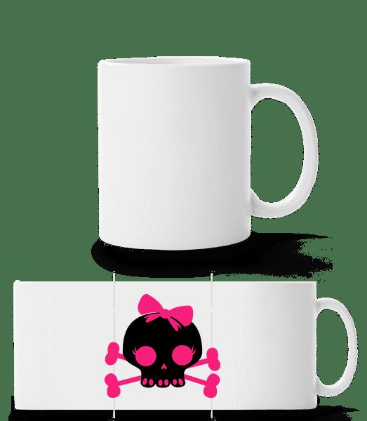 Emo Skull Pink - Panorama Mug - White - Vorn