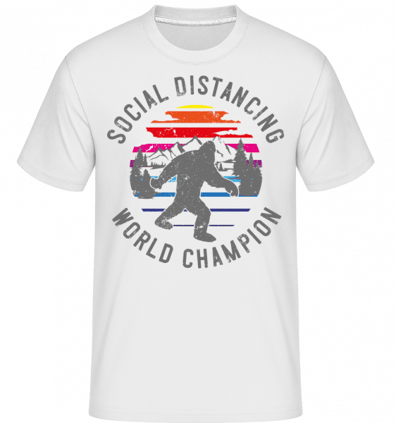 Social distancing Champion -  Shirtinator Men's T-Shirt - White - Vorn