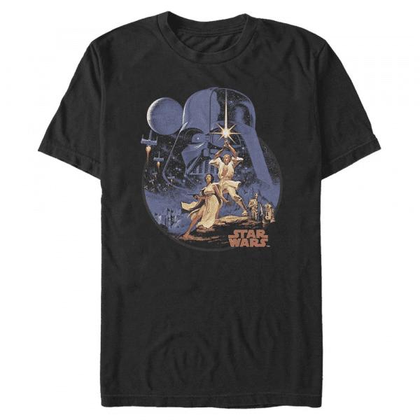 Stellar Vintage Group Shot - Star Wars - Men's T-Shirt - Black - Front