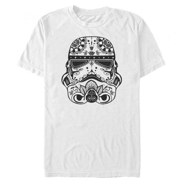 Sugar Skull Troop Stormtrooper - Star Wars - Men's T-Shirt - White - Front