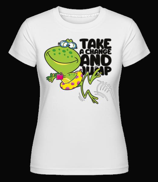 Frog Jump -  Shirtinator Women's T-Shirt - White - Front