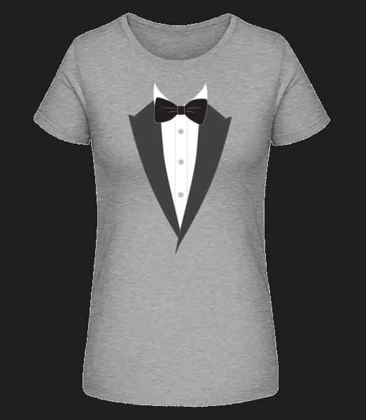Bow Tie - Women's Premium Organic T-Shirt Stanley Stella - Heather grey - Front