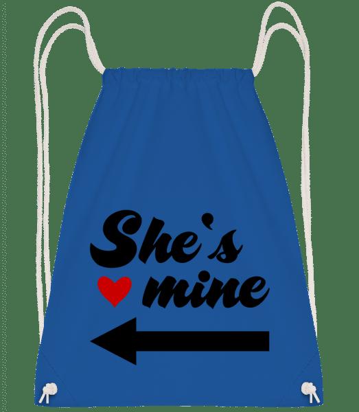 She Is Mine - Drawstring Backpack - Royal blue - Vorn