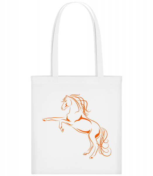 Horse Orange - Carrier Bag - White - Vorn